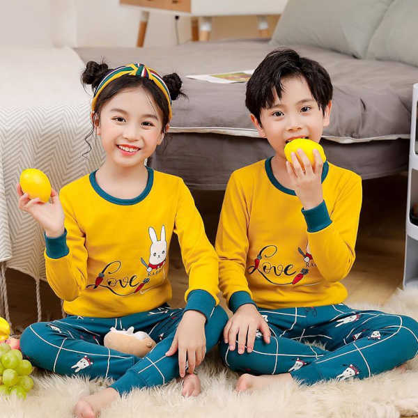 Kids Unisex Cotton Nightwear Sets By Khusi Fashion (Dark Yellow)