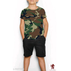 Modern Trendy Boys T-Shirts By Ayan Style (Army Green, Brown)