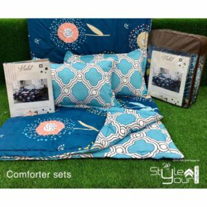 One bedsheet With Two Pillow Covers & 1 comfortor( Both Side Different Print) By Sai Collection (Multicolor) (2)
