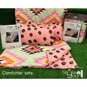 One bedsheet With Two Pillow Covers & 1 comfortor( Both Side Different Print) By Sai Collection (Multicolor) (5)
