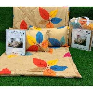 One bedsheet With Two Pillow Covers & 1 comfortor( Both Side Different Print) By Sai Collection (Peach)
