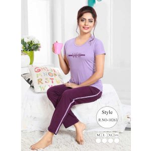 Premium Hosiery Fabric Top With Bottom By Khusi Fashion