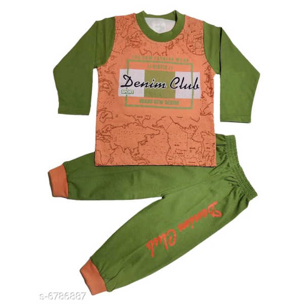 Princess Trendy Boys Top & Bottom Sets By Hafsa Collection (Light Green)