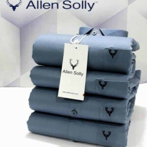 Allen Solly Full Sleeves Cotton Plain Shirts For Men By TNP India (Grey)
