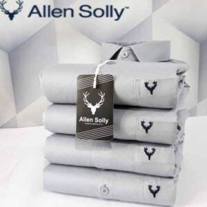 Allen Solly Full Sleeves Cotton Plain Shirts For Men By TNP India (Light Grey)