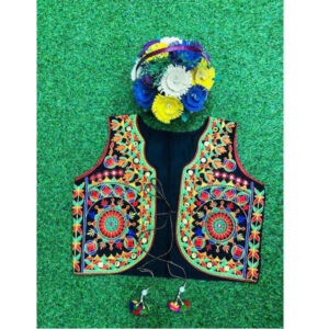 Bangalori Silk Embroidered Jackets With Inner For Women By Indy Beauty (Multicolor5)