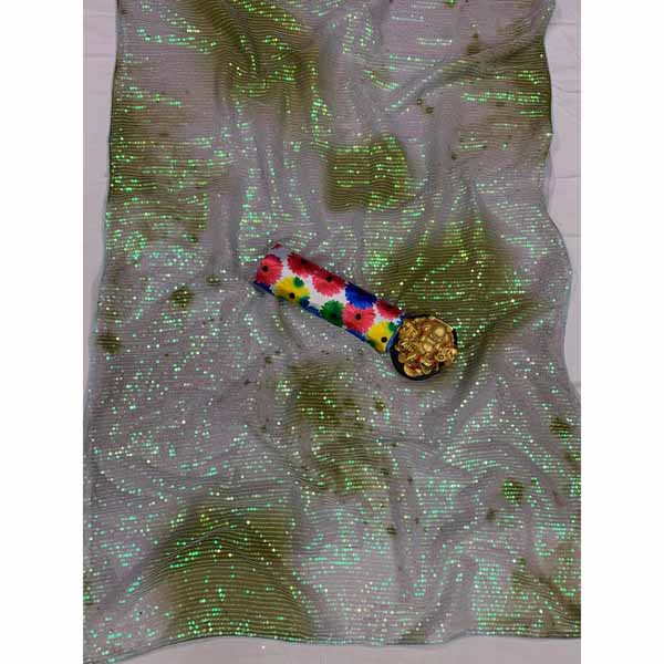 Beautiful Georgette Saree With Sequence Work By Style And Blossom (Light Green)