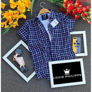 Louis Philippe 100% Cotton Normal Fit Men Shirts By Ved's Variety Store