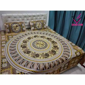 One Double Bedsheet With Two Pillow Covers By Sai Collection