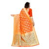 RMS Fashion Banarasi Weaving Soft Silk Saree With Running Blouse By RMS Fashion (Dark Orange3)
