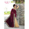 RMS Fashion Special Velvet Saree With Running Blouse By RMS Fashion (Maroon)