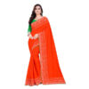 Saranya Pretty Vichitra Silk Women Saree With Blouse By RMS Fashion (Light Red)