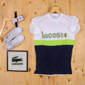 Super Sealing Lacoste Branded 100 % Cotton Printed T-Shirt By Ganesh Fashion