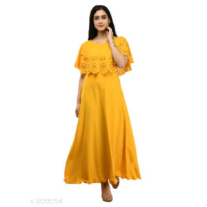 Trendy Ravishing Women Crepe Gown By Hafsa Collection