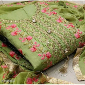 Aagyeyi Attractive Modal Cotton Un-Stitched Dress Materials For Salwar Suit With Georgette Dupatta By Mango Man Market (Mint Green)