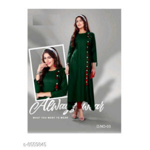 Abhisarika Attractive Heavy 14 Kg Rayon 34 Th Sleeve Stitched Kurtis By Mango Man Market green