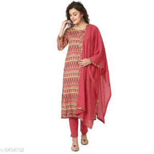 Bandhani Printed Cotton Silk Un-Stitched Dress Materials For Salwar Suit With Dupatta By Priyanka Bansal (Multi Color)