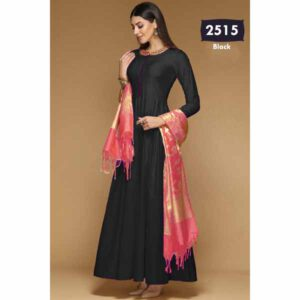 Bangalori Silk Long Gown Style For Women By Shopping With Style (Black)