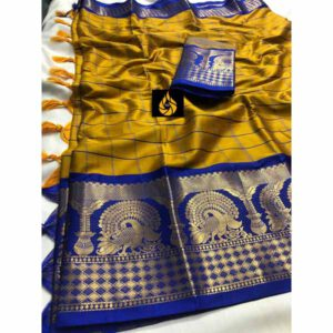 Cotton Silk Party Wear Saree By Shopping With Style (Mustard)