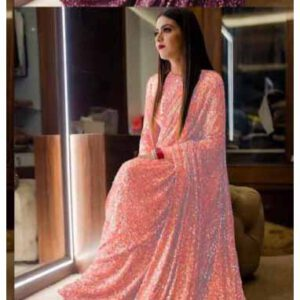 Georgette Saree By Shopping With Style (Pink)