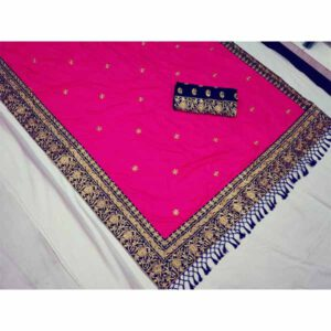 Heavy Bridal Saree By Shopping With Style (Pink)