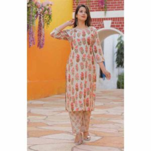 Kurti with Pant For Women By Shopping With Style (Off White) (2)