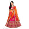 Latest Satin Taffeta Silk Semi Stitched Women Lehenga & Choli With Net Dupatta By Priyanka Bansal (Pink)