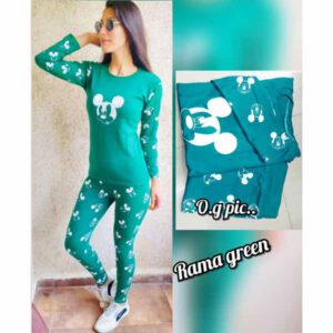 Night Cum Track Suit For Women By Khusi Fashion (Rama Green)