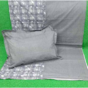 One Double Bedsheet With Two Pillow Covers By Shopping With Style (Grey)