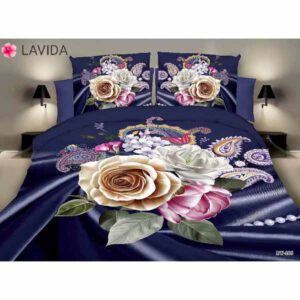 One Double Bedsheet With Two Pillow Covers By Shopping With Style (Multicolor) (10)