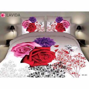 One Double Bedsheet With Two Pillow Covers By Shopping With Style (Multicolor) (22)