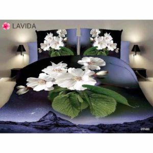 One Double Bedsheet With Two Pillow Covers By Shopping With Style (Multicolor) (3)