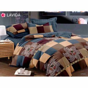One Double Bedsheet With Two Pillow Covers By Shopping With Style (Multicolor) (5)
