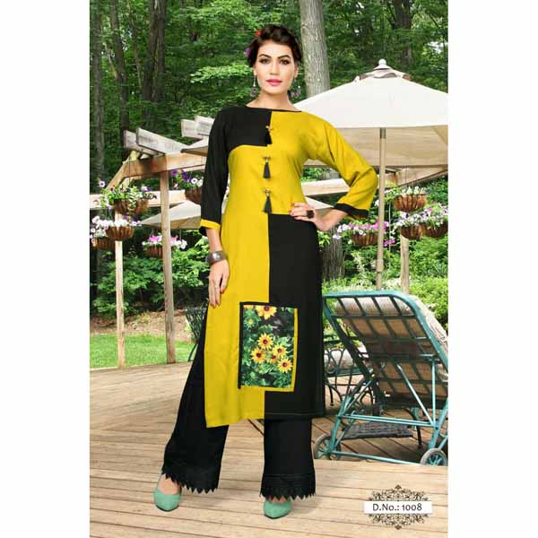 Rayon Kurti For Women By Shopping With Style(Multicolor)