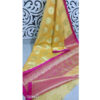Trendy Women Banarasi Cotton Saree With Running Blouse By Priyanka Bansal Yellow
