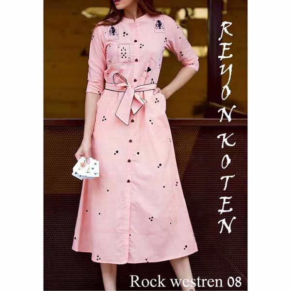 Western Wear Dress For Women By Shopping With Style (Pink)