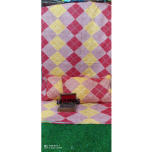 100 % Pure Cotton One Double Bedsheet With Two Pillow Covers By Shivam Creation