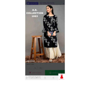 Aagam Alluring Women Kurta Sets By Hafsa Collection (Blackl)