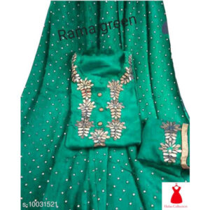 Aagyeyi Pretty Women Kurta Sets By Hafsa Collection(DarkGreen)