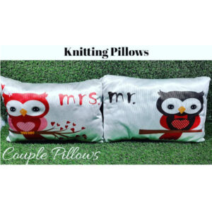 Awesome Designs Knitted Couple Pillow By Shivam Creation(Multicolor)