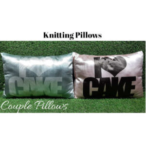Awesome Designs Knitted Couple Pillow By Shivam Creation(Multicolor11)