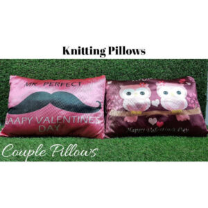 Awesome Designs Knitted Couple Pillow By Shivam Creation(Multicolor7)