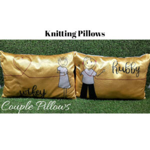 Awesome Designs Knitted Couple Pillow By Shivam Creation(Multicolor8)