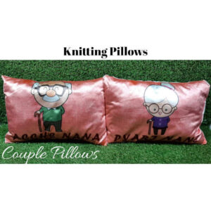 Awesome Designs Knitted Couple Pillow By Shivam Creation(Multicolor9)