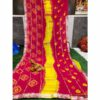 Chiffon Gotta Border Beautiful Colorful Saree By Rajasthan Collection (Light Red)