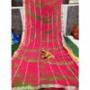 Chiffon Gotta Border Beautiful Colorful Saree By Rajasthan Collection (Pink)