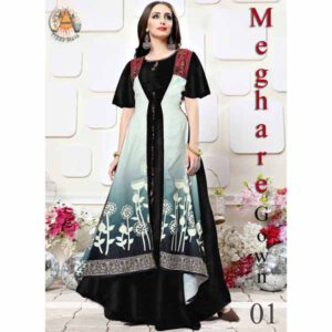 Cotton Poly Rayon Gown For Women By Rajasthan Collection