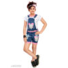Cute Classy Kids Girls Denim Short Sleeve Dungarees & Jumpsuits By Mango Man Market (Multicolor2)