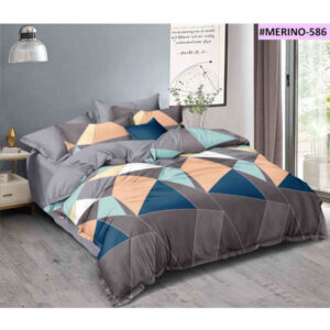 Exclusive Glace Cotton One Double Bedsheet, Two Pillow Covers With One Comforter By Shivam Creation(Multicolor)