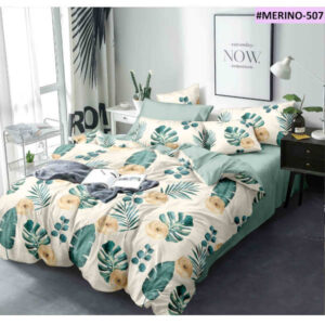 Exclusive Glace Cotton One Double Bedsheet, Two Pillow Covers With One Comforter By Shivam Creation(Multicolor6)